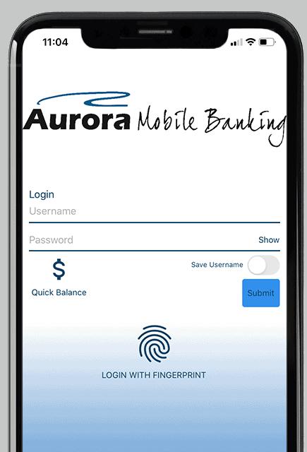 Mobile Banking Login Screen