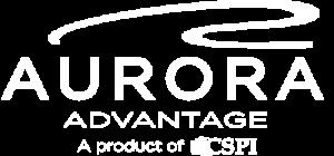 Aurora Advantage Logo - White